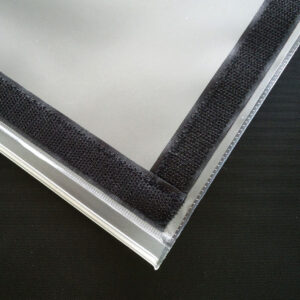 Transparent acrylic sheet. PVC Sleeve for Printed Flex