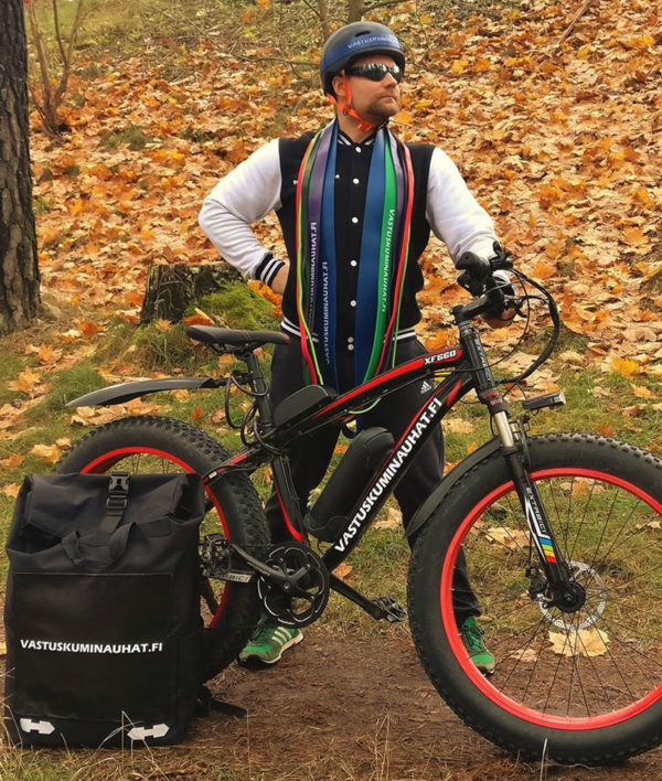 Rolltop backpack - Messenger bag - sac de livraison Sac à dos pour coursier à vélo - noir