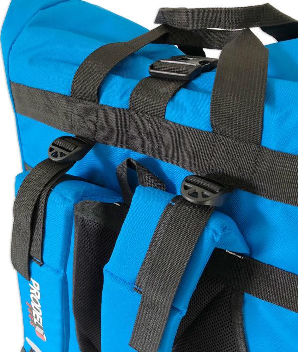 Rolltop backpack - Messenger bag - sac de livraison Sac à dos pour coursier à vélo - bleu clair