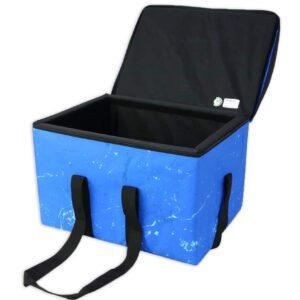 Glacière adaptée au chariot à roulettes. Bacs isothermes convenant parfaitement au transport d'aliments frais, réfrigérés ou congelés tout en respectant la chaîne du froid