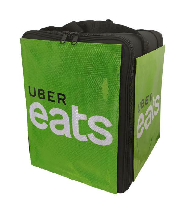 Impression numérique sure PVC. Logo Uber Eats. Sac Uber Eats