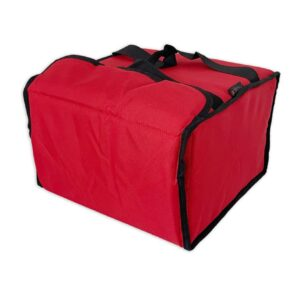 Sac de livraison isotherme rouge Prodelbags pour livraison de pizza 33cm.