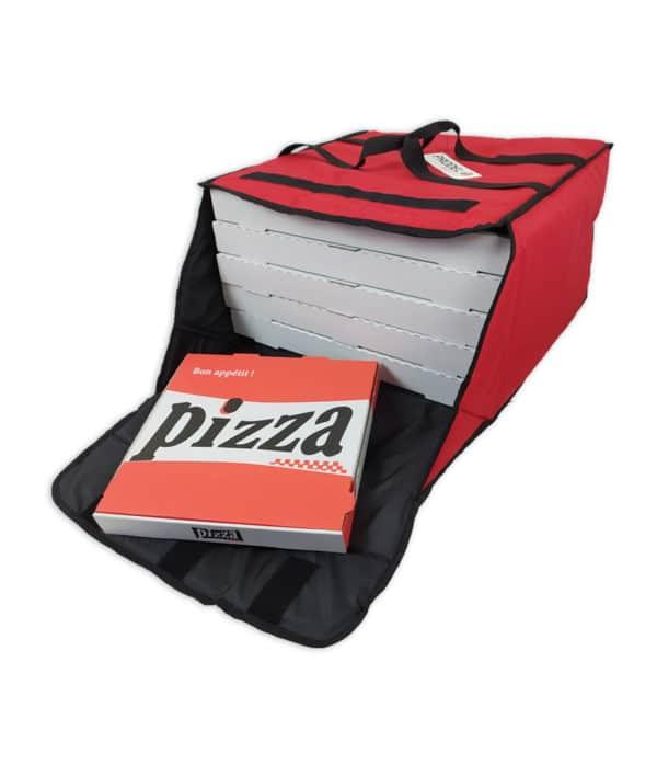 Sac de livraison isotherme noir Prodelbags pour livraison de pizza 50cm.