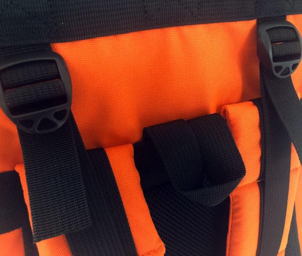 Rolltop backpack - Messenger bag - sac de livraison Sac à dos pour coursier à vélo - orange