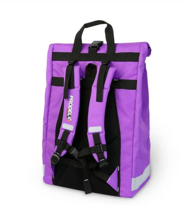 Rolltop backpack - Messenger bag - sac de livraison Sac à dos pour coursier à vélo - violet