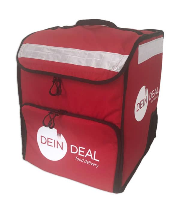 PRODELBags UBB 33 rouge. Sac à dos de livraison pour coursier à vélo, sac à dos Uber Eats, Deliveroo ou Glovo