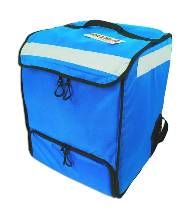 PRODELBags UBB 33 bleu. Sac à dos de livraison pour coursier à vélo, sac Uber Eats, Deliveroo ou Glovo