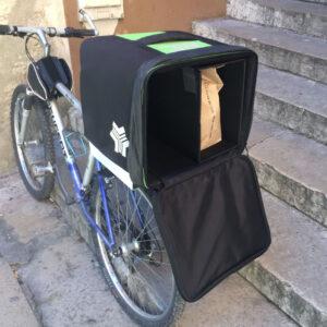 Caisson de livraison ProdelBags Miles Agility pour coursier à vélo. Sac de livraison isotherme 39 litres