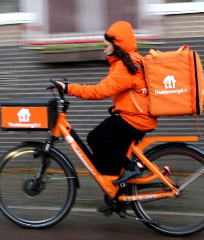 D!Bag 33 sac de livraison isotherme pour coursier à vélo Deliveroo, Thuisbezorgd