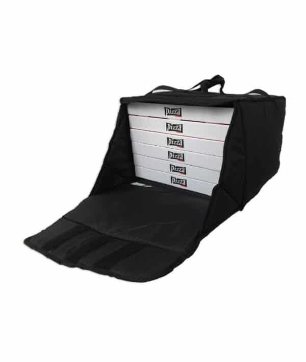 Sac de livraison isotherme noir Prodelbags pour livraison de pizza 43cm.
