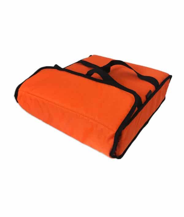 Sac de livraison isotherme orange Prodelbags pour livraison de pizza 43cm.