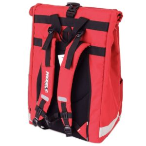 Rolltop backpack - Messenger bag - sac de livraison Sac à dos pour coursier à vélo - rouge