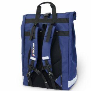 Rolltop backpack - Messenger bag - sac de livraison Sac à dos pour coursier à vélo - bleu nuit