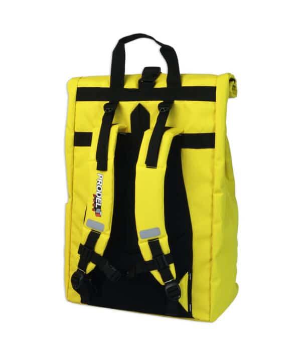 Rolltop backpack - Messenger bag - sac de livraison Sac à dos pour coursier à vélo - jaune