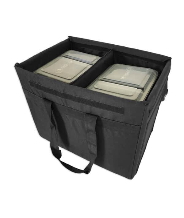 Sac isotherme de livraison traiteur et plateau repas. Bacs isothermes convenant parfaitement au transport d'aliments frais, réfrigérés ou congelés tout en respectant la chaîne du froid